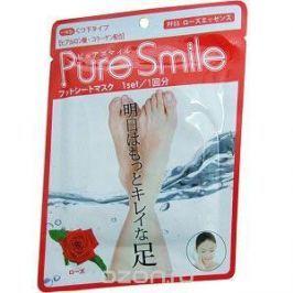 Pure Smile Питательная маска для ступней с эссенцией розы 18г