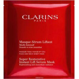 Clarins Восстанавливающая тканевая маска для лица и шеи с эффектом лифтинга Multi-Intensif, 5x30 мл
