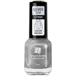 Brigitte Bottier топовое покрытие для ногтей Silver Top серебряный, 12 мл