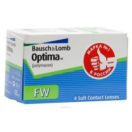 Bausch + Lomb контактные линзы Optima FW (4шт / 8.7 / -2.50)