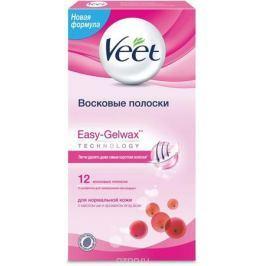 Veet Восковые полоски для нормальной кожи c технологией Easy Gel-Wax, 12 шт