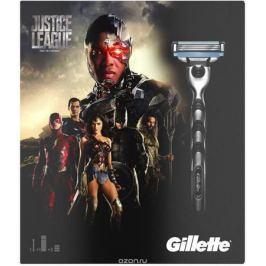 Gillette Mach3 Бритва Подарочный Набор + 2 Сменные кассеты + Гель Для Бритья