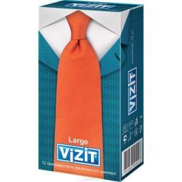 VIZIT Презервативы Large, увеличенного размера, 12 шт