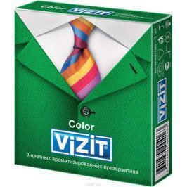 VIZIT Презервативы Color, цветные ароматизированные, 3 шт