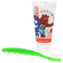 Silca Med Набор Зубная паста со вкусом колы + щетка с 6 лет цвет зеленый