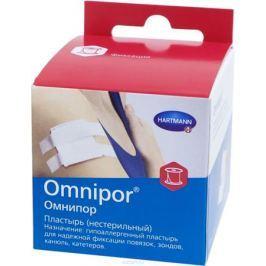 Omnipor Фиксирующий пластырь из текстильной ткани с еврохолдером, 5 см х 5 м