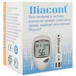 Diacont Тест-полоски к системе контроля уровня глюкозы в крови, 25 шт. 1812