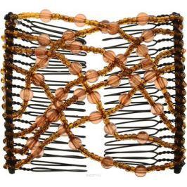 EZ-Combs Заколка Изи-Комбс, одинарная, цвет: коричневый. ЗИО_шарики