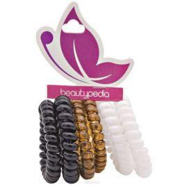 Beautypedia Набор резинок для волос, цвет: черный, коричневый, белый, 6 шт