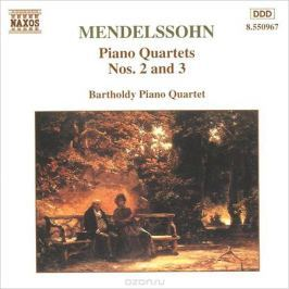 Bartholdy Piano Quartet,Йорг-Вольфганг Ян Mendelssohn. Piano Quartets Nos. 2 And 3
