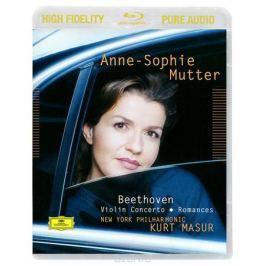 Анна-Софи Муттер,Курт Мазур,New York Philharmonic Orchestra Anne-Sophie Mutter, Kurt Masur. Beethoven. Violin Concerto / Romances (Blu-Ray Audio)