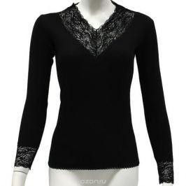Термобелье футболка с длинным рукавом женская Cratex Люкс, цвет: черный. 3615. Размер M (46-48)