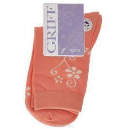 Носки женские Griff Цветок, цвет: коралловый. D263. Размер 39/41