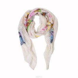 Палантин Модные истории, цвет: кремовый, розовый. 21/0380/006. Размер 190 см x 90 см