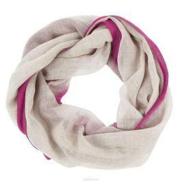 Палантин Ethnica, цвет: темно-бежевый, розовый. 041370а. Размер 70 см х 180 см