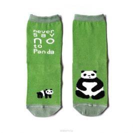 Носки женские Big Bang Socks Панда, махровые, цвет: салатовый, темно-зеленый. a113. Размер 35/39