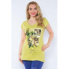 Туника женская BeGood, цвет: оливковый. SS16-BGUZ-509. Размер 58