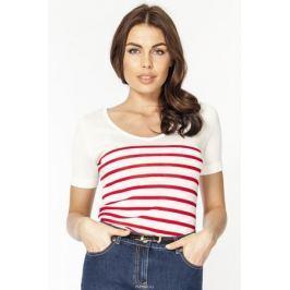 Джемпер женский Vis-A-Vis, цвет: белый, красный. VIS-0291V. Размер XL (50)