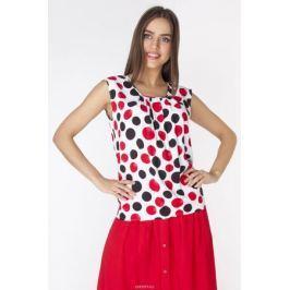 Блузка женская Vis-A-Vis, цвет: белый, черный, красный. L3254. Размер S (44)