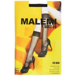 Гольфы женские Malemi Soft 20, цвет: Nero (черный), 2 пары. 9066. Размер универсальный