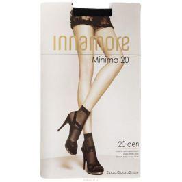 Носки женские Innamore Minima 20, цвет: Nero (черный), 2 пары. 6002. Размер универсальный
