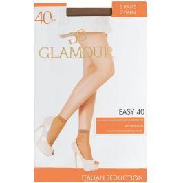 Носки женские Glamour Easy 40, цвет: Daino (загар), 2 пары. 25809. Размер универсальный