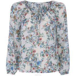 Блузка женская oodji Collection, цвет: белый, мультицвет. 21418013-2M/17358/1275E. Размер 40-170 (46-170)