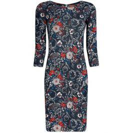 Платье oodji Collection, цвет: синий, красный, белый. 24001070-5/15640/2945F. Размер S (44)