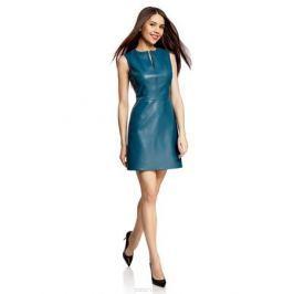 Платье oodji Ultra, цвет: темно-бирюзовый. 11902150/42442/7400N. Размер 38-170 (44-170)