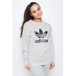 Свитшот женский adidas Trefoil, цвет: серый. BJ8296. Размер 40 (46/48)