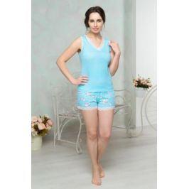 Комплект домашний женский Mia Cara: майка, шорты, цвет: голубой. AW16-MCUZ-878. Размер 42/44
