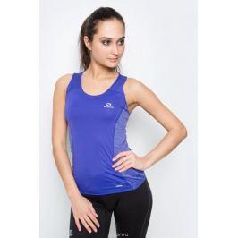 Майка для бега женская Salomon Agile Tank W, цвет: синий. L39253500. Размер L (48/50)