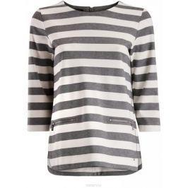 Футболка женская oodji Collection, цвет: серый, белый. 24200002/45717/2310S. Размер L (48)