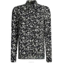 Блузка женская oodji Ultra, цвет: черный, белый. 11411118/24681/2912F. Размер 40-170 (46-170)
