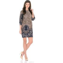 Платье Rosa Blanco, цвет: коричневый, темно-синий. 3385-Г1. Размер 46