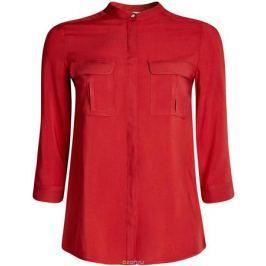 Блуза женская oodji Ultra, цвет: красный. 11403225-3B/26346/4500N. Размер 34-170 (40-170)