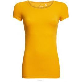 Футболка женская oodji Ultra, цвет: лимонный. 14701005-7B/46147/5200N. Размер XXS (40)