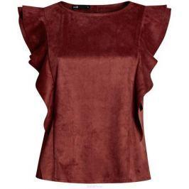 Блузка женская oodji Ultra, цвет: терракотовый. 18K00001/46453/3100N. Размер 40-170 (46-170)