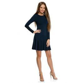 Платье oodji Ultra, цвет: темно-синий. 14011015/46384/7900N. Размер XS (42-170)