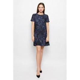 Платье Selected Femme, цвет: черный, синий. 16051734. Размер 38 (44)
