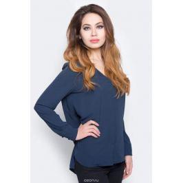 Блузка женская Selected Femme, цвет: синий. 16053871. Размер 38 (44)