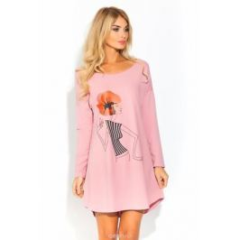 Ночная рубашка Evateks, цвет: светло-розовый. 1424. Размер 50/52