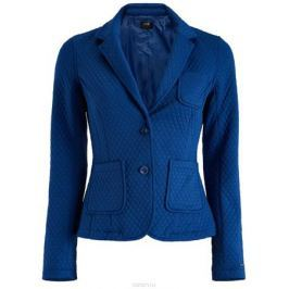 Жакет женский oodji Collection, цвет: синий. 27900041/42408/7500N. Размер XL (50)
