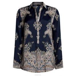 Блузка женская oodji Collection, цвет: темно-синий. 21411144-3/35542/7935E. Размер 42 (48-170)