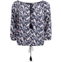 Блузка женская oodji Collection, цвет: темно-синий. 21424003-2/45283/7912E. Размер 36 (42-170)