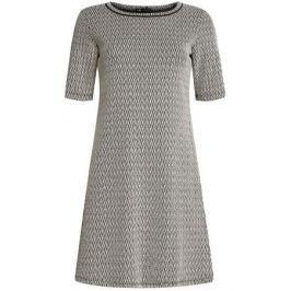 Платье oodji Ultra, цвет: молочный, черный. 14000158/45992/3329J. Размер S (44)