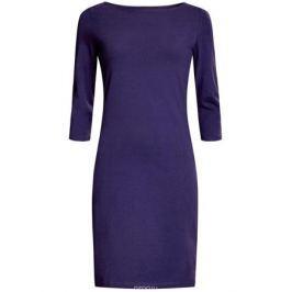 Платье oodji Ultra, цвет: темно-фиолетовый. 14001071-2B/46148/7500N. Размер XS (42)