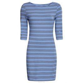 Платье oodji Ultra, цвет: голубой, темно-синий. 14001071-2B/46148/7079S. Размер L (48)