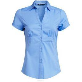Блузка женская oodji Ultra, цвет: голубой. 11402087/35527/7500N. Размер 36 (42-170)