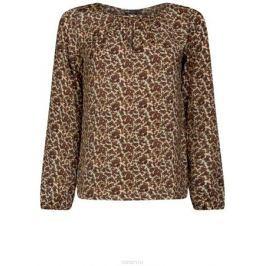 Блузка женская oodji Collection, цвет: бежевый, бордовый. 21400321-2/33116/3349E. Размер 36 (42-170)